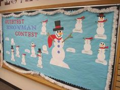 Winter Snowman Incentive Bulletin Board