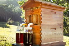 <b>Flow Hive</b><br> Establish a land of milk and honey (well, honey anyway) in your backyard, with this new Australian-designed invention that revolutionise beekeeping. As featured on Australian Story, the Flow Hive extract all that golden goodness without the bee suits and the mess. Download a Christmas card telling the giftee their hive will be delivered by March. Price: $849 from honeyflow.com.au