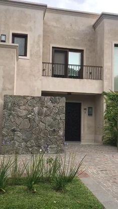 Duplex House Design, House Front Design, Small House Design, Modern House Design, Rideaux Design, Architectural House Plans, Home Building Design, Dream House Exterior, Mediterranean Homes