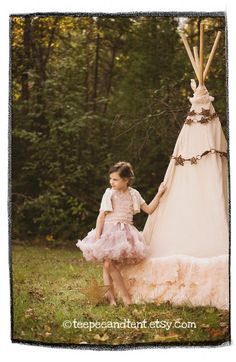 Kids Ruffle Teepee Play Tent by TeepeeandTent on Etsy