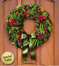 Holiday Heartsong Magnolia Wreath