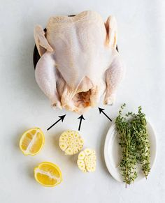 This whole oven-roasted chicken recipe makes a perfect family dinner, and there's plenty of gravy to Ina Garten Roast Chicken, Oven Roasted Chicken, Roast Chicken Recipes, Chicken Gravy, Chicken Cutlets, Crispy Chicken, Roasted Shrimp, Raw Chicken, Chicken Marinades