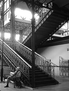 Staircase in the Great Market Hall, Budapest