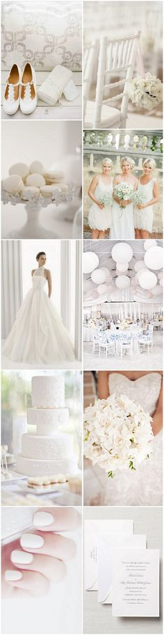 A Pristine White Palette to Inspire your Winter Wedding | weddingsonline