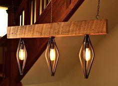 Industrial Barn Wood and Rebar Light Fixture by Rebarn Designs – upcycleDZINE