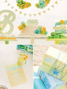 {Fresh Sea Breeze} Gender Neutral Baby Shower -  Beautiful theme could be used for wedding, birthday, etc.