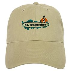 CafePress - St. Augustine - Palm Surf Design. Cap - Baseball Cap with  Adjustable 34ad2d03b737