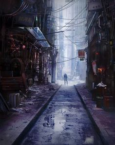 Alley, Alina Kapustina on ArtStation at https://www.artstation.com/artwork/NarBN