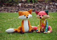 Patchwork Fox Soft Toy PDF Sewing Pattern Fox Softie Pattern
