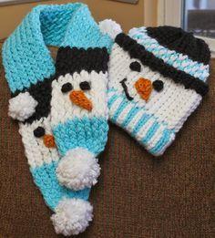 Snowman Scarf - Free Pattern