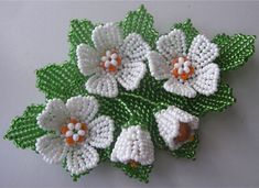 Marina Shamshura's photos Crochet Flower Patterns, Crochet Flowers, Beading Patterns, Seed Bead Jewelry, Seed Beads, Beaded Jewelry, Jewellery, Seed Bead Flowers, French Beaded Flowers