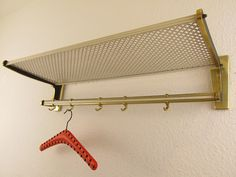 Mid Century coat rack / vintage wall hooks / German furniture / home decoration / | West Germany | 50s 60s | Rockabilly
