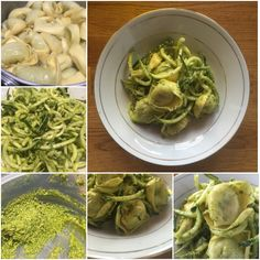 While I've used my #cashewpesto on #tortellini and #courgetti on separate occasions, this time, I used the #pesto on both and the resulting dish, to me, was a complete, #healthy and satisfying #meal! #awesome #cook #cooking #eatright #food #food4gods #foodie #foodporn  #greatfood #lunch #nutrition #pasta #postworkoutmeal #protein #zuchini