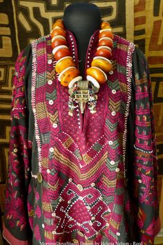 Moroccan Tribal Necklace huge amber resin by MorningDoveDesign, $1175.00