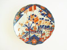 Antique Extremely Rare c.1730 Qianlong Imari Scalloped Shell Plate