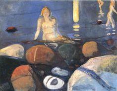 Mermaid sur la Rive- - (Edvard Munch)