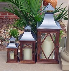 3pc Indoor or Outdoor Lanterns * Check out this great product. Note: It's an affiliate link to Amazon.