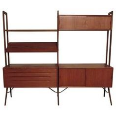 Kurt Ostervig Teak Freestanding Wall Unit