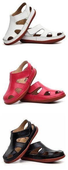 US$17.99 Unisex Children Soft Sandals Simple Loop Hollow Flat Shoes