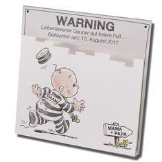 """Lustige Babykarten """"Gauner"""" - aus schimmerndem Premiumkarton gefertigt. Lustig & edel! Bestellen Sie nur bei uns - Wimmer Druck in Aachen- oder online bei top-kartenlieferant.de"""