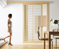 interior Maple panelling | The Exit 02 Sliding Door is a modern interior door feature maple wood ...