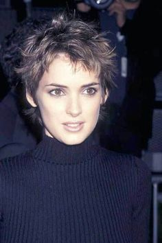 15 Messy Pixie Cuts: #10. Winona Ryder Messy Pixie Hair Cut
