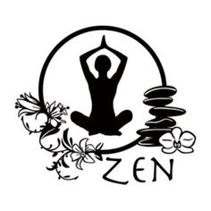 """Style and Apply Zen Yoga Wall Decal Size: 41"""" H x 46"""" W, Color: Dark Gray"""