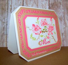 Ann Greenspan's Crafts: Sue Wilson Ornate Pierced Rectangles Mother's Day Card