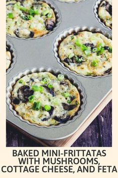 If you've been reading this blog for a while, you probably noticed how I love to make little breakfast tarts or mini-frittatas with the Williams Sonoma Tart Pan I got from my sister Laurel. And when I decided to update the photos for these Baked Mini-Frittatas with Mushrooms, Cottage Cheese, and Feta, I couldn't resist using the tart pan to make them a bit fancier. But these are just a slightly bigger version of the Egg Muffins that have been so popular on the blog. #bakedrecipe #recipes Cottage Cheese Eggs, Cottage Cheese Recipes, Breakfast For Dinner, Breakfast Recipes, Dinner Recipes, Williams Sonoma, Feta, Zucchini, Mini Frittata