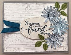 Stampin Up Daisy Lane Hand Made Greeting Cards, Making Greeting Cards, Greeting Cards Handmade, Daisy, Stampin Up Karten, Friendship Cards, Friendship Thoughts, Stamping Up Cards, Cards For Friends