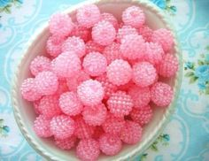 Vintage Bubblegum Pink Berry Beads