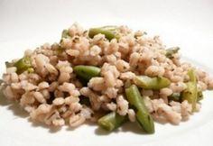 Zöldfűszeres-zöldbabos árpaköret Paella, Quinoa, Risotto, Grains, Rice, Ethnic Recipes, Food, Bulgur, Essen