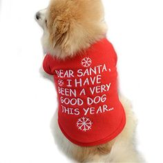 Charberry Christmas Pet Puppy Warm Pullover Highgrade Embroidered Clothes S Red * Check out the image by visiting the link.
