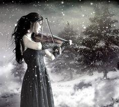 snow violin