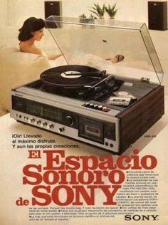 Ad for Sony stereo system Vintage Advertisements, Vintage Ads, Vintage Stuff, Radios, Old School Radio, Radio Antigua, Antique Radio, Record Players, Poster S