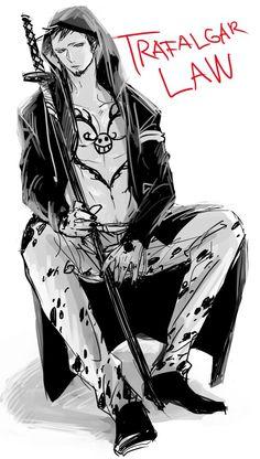 Trafalgar D. One Piece One Piece Fanart, One Piece Anime, Anime One, Anime Guys, One Piece Images, One Piece Pictures, Trafalgar Law, Fan Art, Cartoon Art