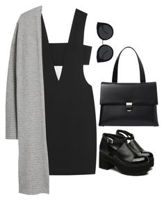 """""""Untitled #6487"""" by heynathalie ❤ liked on Polyvore featuring T By Alexander Wang, MANGO, Giorgio Armani and Quay"""