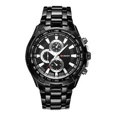407b6f3508a CURREN Watches Men Quartz Analog Military Fashion Watches Waterproof Luxury  Fashion Affordable Stainless Steel Black Watches For Men Products
