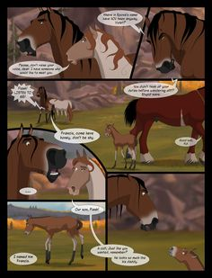 TotH Issue pg 026 by Wild-Hearts on DeviantArt Wolf Comics, Sad Comics, Deer Drawing, Horse Drawings, Troy Horse, Dreamworks, Grafic Novel, Spirit The Horse, Horse Animation