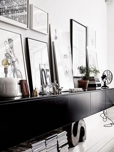 A monochrome apartment with a touch of mid-century