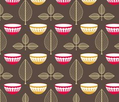 Vintage Pyrex fabric by ruthiepearl on Spoonflower - custom fabric