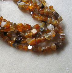 Red Brown Agate Chip Beads Craft Supplies by CatsBeadKitsandMore