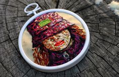 Danielle Clough - Small embroidered face