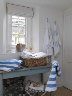 We love seaside interiors is part of Seaside Cottage Living Room - If you, like us, love seaside interiors and dream of beach living, enjoy these inspirational coastal decorative ideas including a Cornish cottage by the sea Beach Cottage Style, Beach Cottage Decor, Coastal Cottage, Coastal Living, Seaside Decor, Cozy Cottage, Coastal Style, Nantucket Cottage, Seaside Style