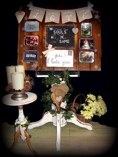 Rustic Welcome/story board hire from £25 As a add on price