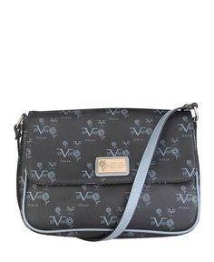 Versace 1969 abbigliamento sportivo srl milano italia - borsa tracolla - materiale: eco - pelle - un manico - chiusura m - Borsa a tracolla donna  Nero