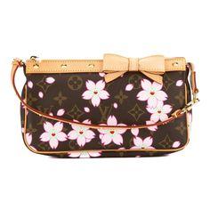 Louis Vuitton Pink Cherry Blossom Monogram Pochette Accessoires Bag (Pre Owned) - Pochette / Brown / 1 Payment