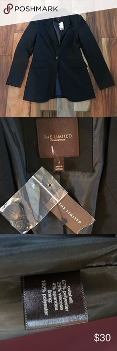The Limited Black Blazer Size S Brand new with tags black blazer from The Limited. Size is a small. This has a suit coat appearance and is lined. Could be paired with a pair of jeans or dressed up for work! The Limited Jackets & Coats Blazers