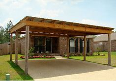 Lean To Carport, Carport Sheds, Carport Plans, Carport Garage, Carport Designs, Garage Design, Barn Apartment, House Deck, Pole Barn Homes