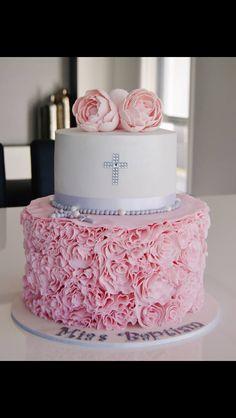 Communion cake pink